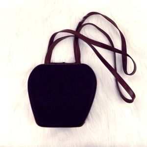 Gucci Vintage Purse Linen Bamboo Black Brown